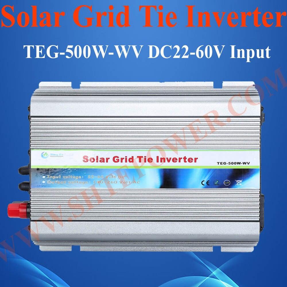 цена на 500W grid tied solar inverter, DC 22-60V to AC 90-130V/190-260V grid tied solar inverter
