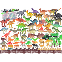 UTOYSLAND Hot 104Pcs Dinosaur Animal Simulated Model Toy Children Early Education Cognition Playset Toys Gifts For Kids Children