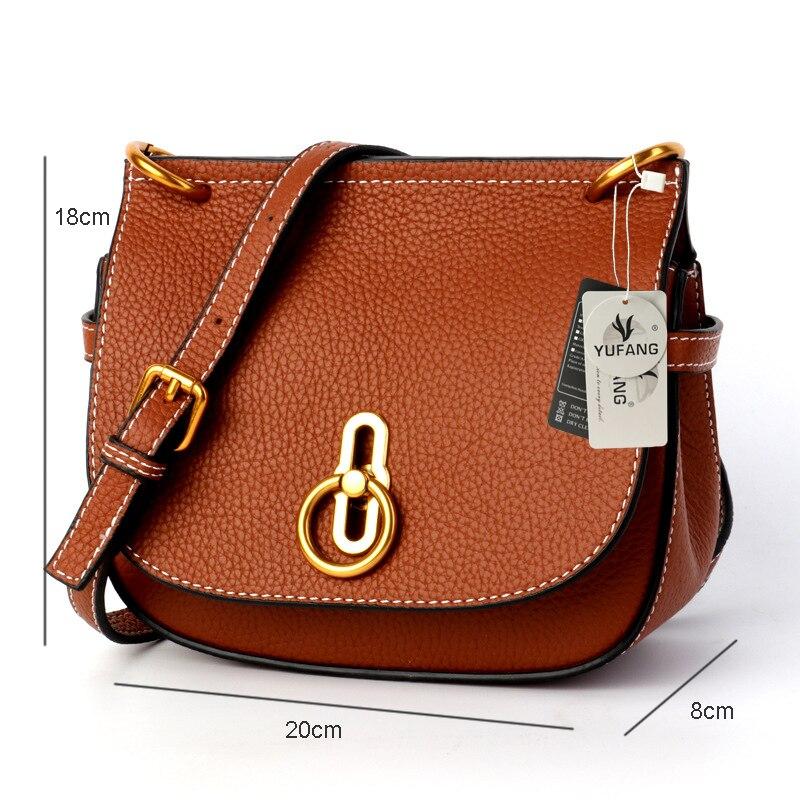 YUFANGกระเป๋าถือของผู้หญิงหนังแท้ไหล่กระเป๋าหญิงหรูหราคลาสสิกกระเป๋าสะพายสไตล์เลดี้ทุกวันผู้หญิงช้อปปิ้งกระเป๋า-ใน กระเป๋าสะพายไหล่ จาก สัมภาระและกระเป๋า บน   2