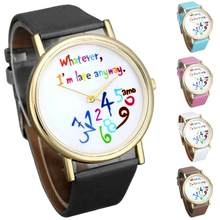 2017 Dignity Women Leather Watch Wathever I am Late Anyway Letter Watches MA 23(China)