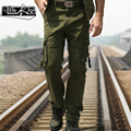 Fanchenyipin 2016 cargo pants men long pant army multi pockets plus size loose casual canvas trouser for men