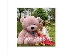 Новые мягкие розовые плюшевый мишка 220 см кукла 85 дюймов игрушка в подарок wb8458