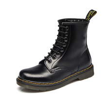New Women Boots Doc Martins British Dr Martins Vintage Classic Genuine Martin Boots Female Thick Heel Motorcycle Women's Shoes