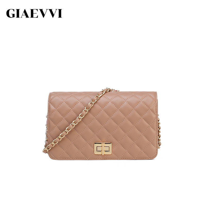 GIAEVVI Women Messenger Bags Luxury Split Leather Designer Cowhide Handbags Small Clutch Chain Shoulder Bag Crossbody for Lady