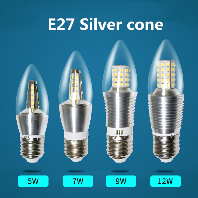 4pcs/a lot E14 LED Bolbillas Bulb Lamp E27 5W 7W 9W 12W Cone Tail Crystal Led Ceiling Lamp Light Source LED Candle Light электросамокат ezip e 4 5