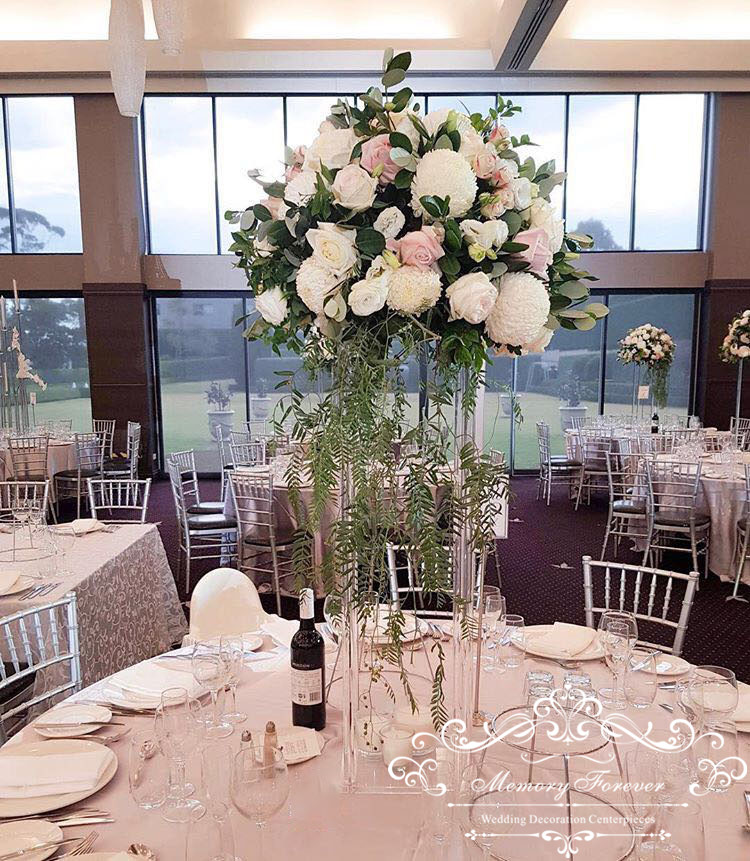 Clear Acrylic Vase Wedding Columns Tall Flower Stand Floral