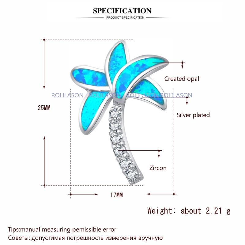Partai Eceran grosir Pohon desain Biru Fire Opal Perak Stamped Kalung - Perhiasan fashion - Foto 2