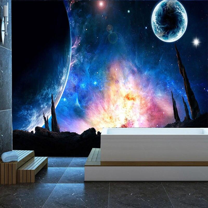 HOT handmade Boule en Verre Pendentif système solaire Galaxy LUNE Espace Univers Collier