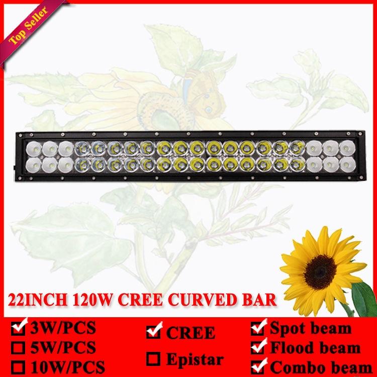 22 inç 120W shirit LED dritë e lakuar për Offroad 4X4 Led Lampë - Dritat e makinave - Foto 5