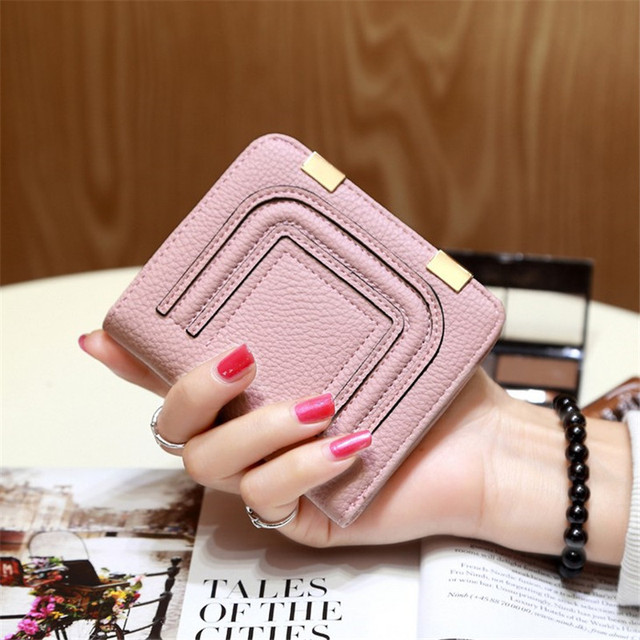 Casual Hasp Female Short Wallet Small Day Clutch Coin Pocket Wallets  Women s Money Purse Credit Card Holder PU Leather Girls Bag f6964bcd08