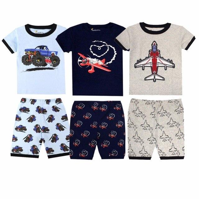 Summer Boys Pajams Kids Cotton Sleepwear Pyjamas Girls Baby Girls Clothes Pijamas Kids Summer Boys Clothing Pijama Infantil