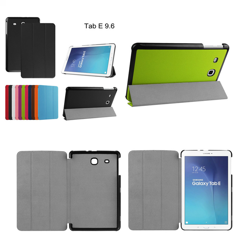 Karst Patterns Slim Folding PU Leather+Plastic Shell back Cover Stand Case Cover For samsung Tab E 9.6 inch T560 T561 case