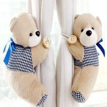 1 par lindo Corea cortinas precioso oso de dibujos animados clip de cortina hebilla de Correa de La cortina valor retenido cortina decoración del hogar regalo