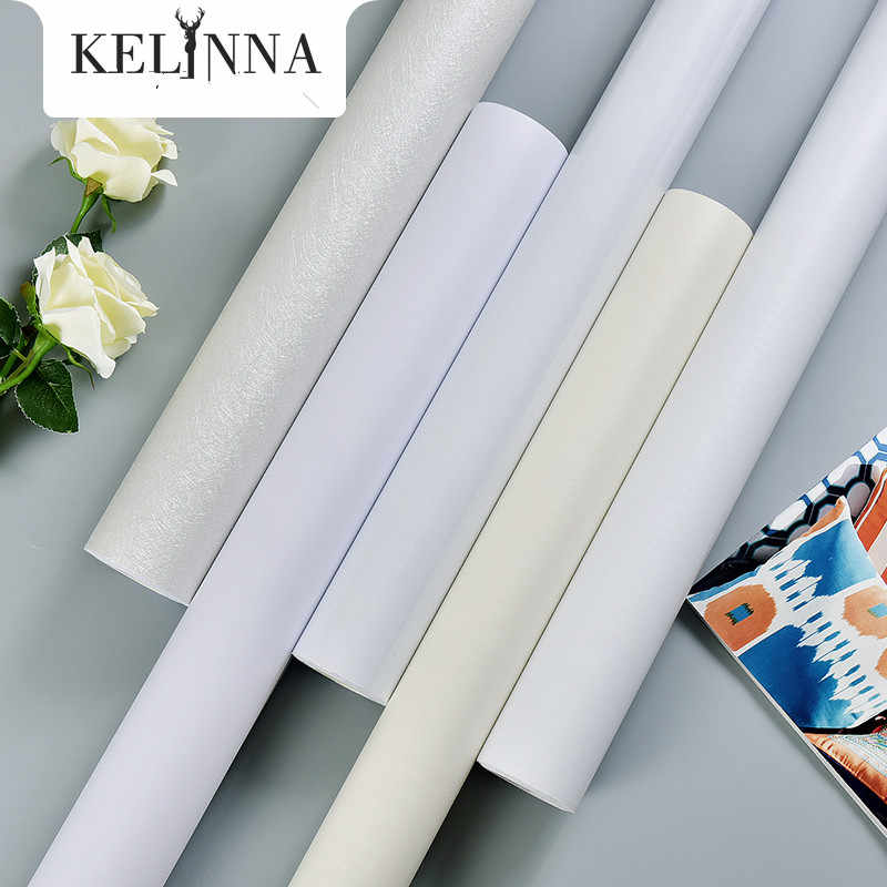 White thick waterproof self-adhesive wallpaper pvc white wood grain self-adhesive cabinet door old furniture renovation stickers