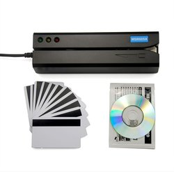 Deftun MSR605X USB lector de tarjetas magnéticas, adaptador interno, compatible con windows Mac MSR606i msr605 msr x6 msr900 msrx6bt