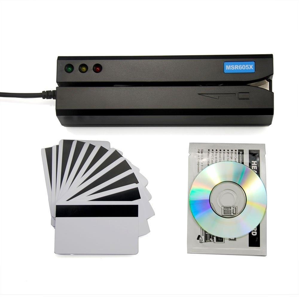 Deftun MSR605X USB Magnetic Card Reader Writer Inside Adaptor Compatible Windows Mac MSR606i Msr605 Msr X6 Msr900 Msrx6bt