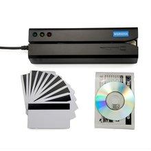 Deftun lecteur de carte magnétique USB MSR605X, adaptateur intérieur, compatible avec windows et Mac, MSR606i msr x6