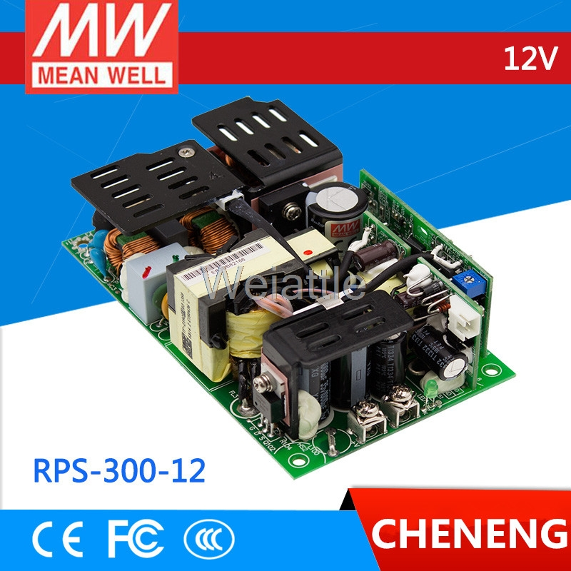 [Cheneng]MEAN WELL original RPS-300-12 12V 25A meanwell RPS-300 12V 300W Single Output Medical Type original meanwell rps 160 12 single output 160w 12v 12 9a mean well medical open frame type power supply rps 160 pcb type