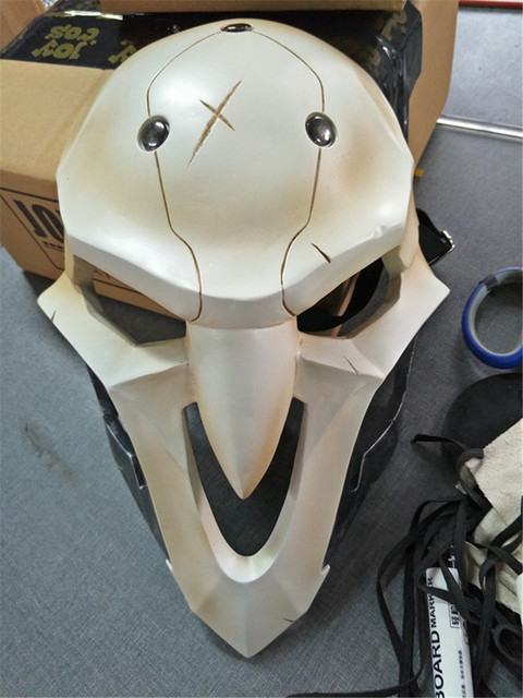 High Quality PVC Mask Cosplay Costume Prop For Video Game A god of death Reaper mask Athemis Soldier 76 cosplay
