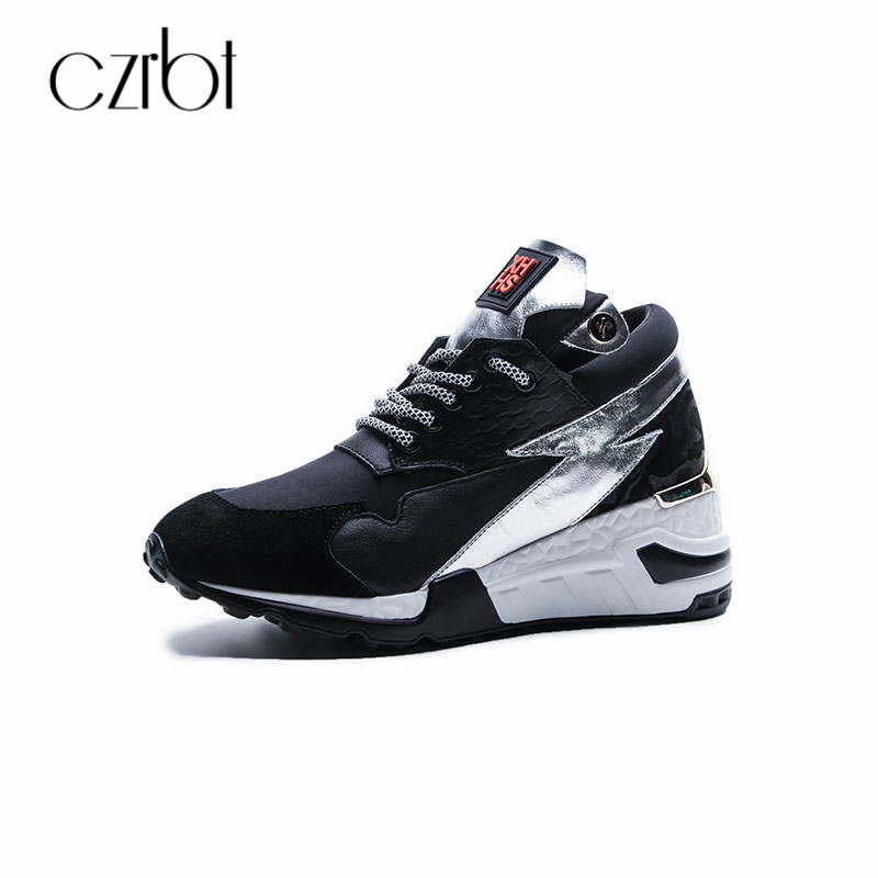 CZRBT Womens Flats Casual Shoes 2018 Spring Autumn Genuine Leather Platform Sneakers Plus Size Narrow Band Fashion Female Shoes beyarne rivets decoration brand shoes flats women spring autumn fashion womens flats boat shoes sexy ladies plus size 11