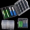 10 UNIDS/LOTE Nuevo Azul Verde Cubierta de La Caja de Plástico Duro Holder AA/AAA Batería Caja de Almacenamiento
