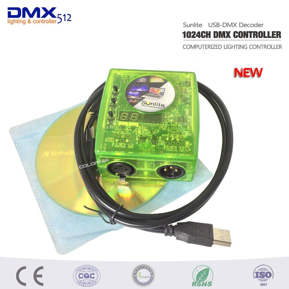 DHL Free shipping Sunlite Suite1024 DMX Controller 1024 CH Easy Show Lighting Effect Stage Equipment , DMX Color changing Tool контроллер dmx sunlite stick de3