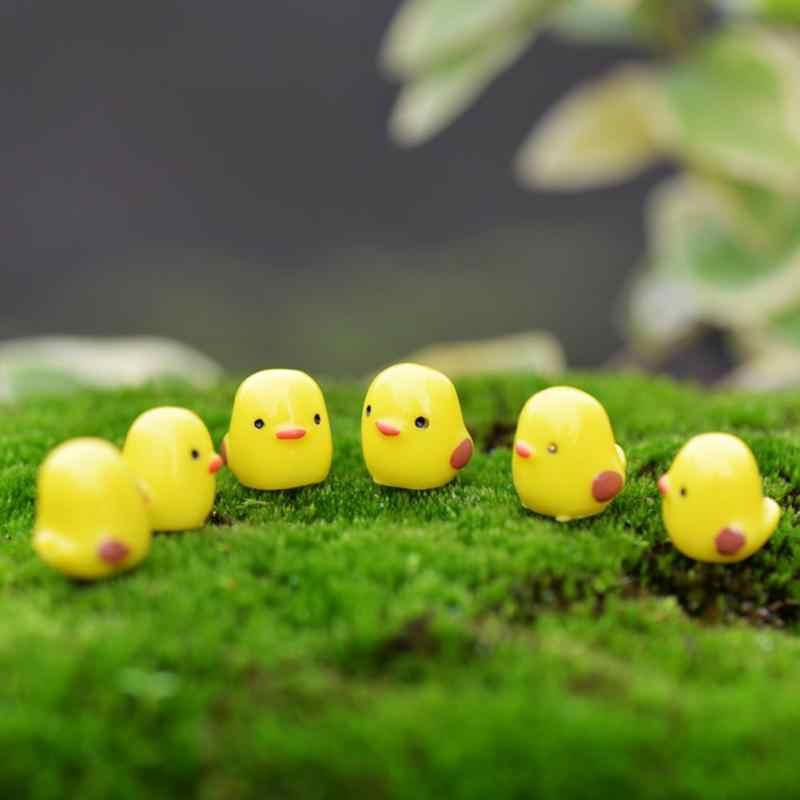 10 шт./пакет желтый курица птица животные микро Фея украшения сада украшения для суккулентов игрушки Миниатюрные DIY ПАСХАЛЬНОЕ украшение