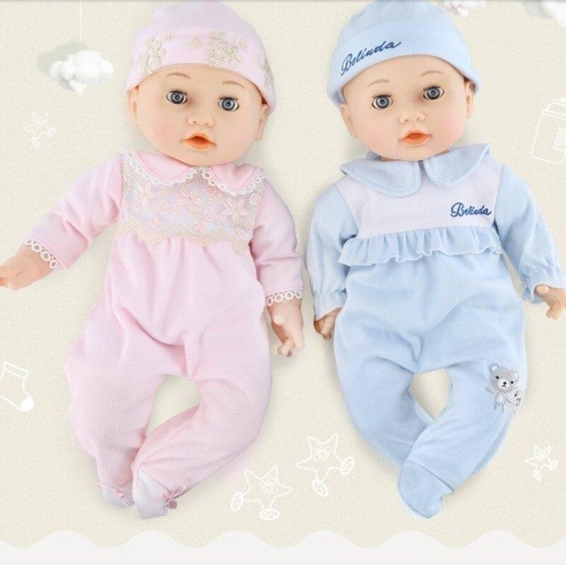 Моделирование куклы девочка кукла мягкий клей успокаивает и сна бутылки ребенка говорить поддельные кукла