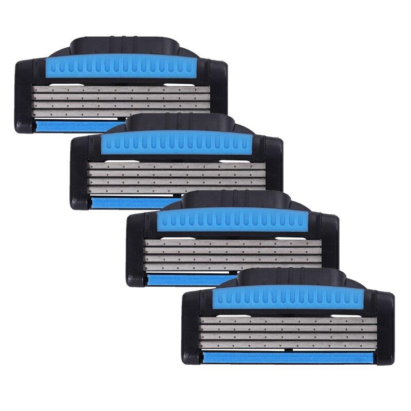 Giulietta Professional Shaving 4 Layers Razor Blades Cassettes Facial Care Men Shaving Compatible Cassettes Facial