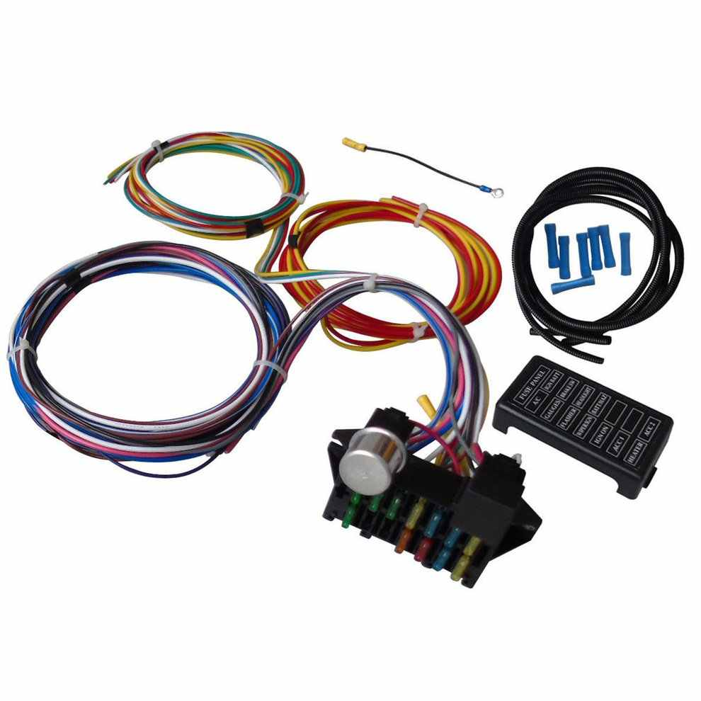 detail feedback questions about 12 circuit universal wiring harness wiring 12 standard fuses harness universal street hot rod chevy ford [ 990 x 990 Pixel ]