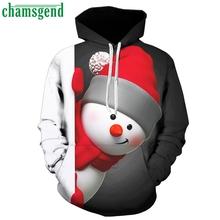 Chamsgend Plus Size bluza męska 2019 moda męska 3D drukowana bluza bożonarodzeniowa z długim rękawem męska bluza z kapturem Casual bluzki bluzka #35 tanie tanio Pełna Men tops Brak Na co dzień REGULAR Drukuj STANDARD Poliester NONE Winter Autumn Casual Party Beach Polyester Printedl