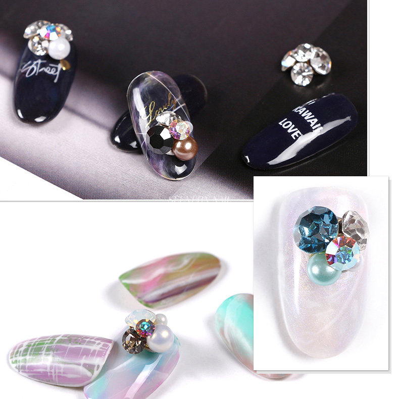 New 10pcs Luxury Japanese nail jewelry decoration alloy heap ...