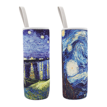 2pcs/lot M High Quality Neoprene Water Glass Bottle Sleeves Sided Available Handle Cup Set Insulated Sleeve Bag Case Pouch 450ml