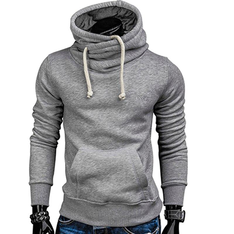 watch 1b9d6 00eb8 Hoodies Männer Herbst Mode Marke Pullover Einfarbig Rollkragen Sweatshirt  Männer der Trainingsanzüge Moleton S-XXL