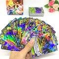 100 pçs/caixa do Laser de Flash EX MEGA Cartão Jogando Cartas Inglês Anime Jogo Cartão de Jogo Figuras Pikachu Pikachu IR Brinquedos para crianças