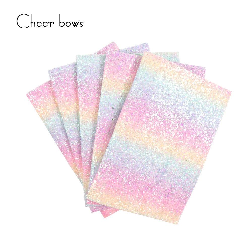 22 * 30 CM 그라디언트 다채로운 반짝이 패브릭 DIY - 예술, 공예, 바느질