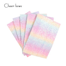hot deal buy 22*30cm gradient colorful glitter fabric diy sewing material home textile printed fabric apparel sewing clothes for sewing doll