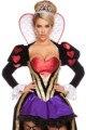 Sexy reina de corazones traje adulto mujeres fantasy wonderland party cosplay disfraz 2016 hembra elegante dress cosplay de las mujeres