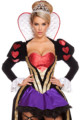 sexy Queen of Hearts costume women adult fantasy Wonderland party cosplay fancy costume 2016 Female Elegant Dress Cosplay women