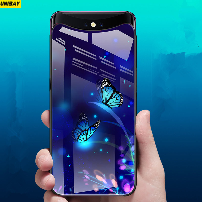 metà fuori b2482 7a9a3 US $16.98 |Oppo Find X Case hard Shock Proof OPPO FIND X Tempered glass  Back Cover 9h anti explode case Anti Knock-in Fitted Cases from Cellphones  & ...