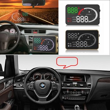 Car HUD Head Up Display For BMW X3/X5 E36/E39/E46/E60/E90 F10/F20/F30 Car HUD A6 Digital Virsual Display Projector Electronic image
