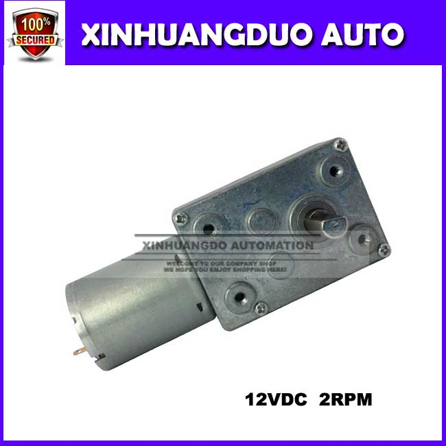 370 Dc 12v Gear Motor Of Miniature 2 Rpm Low Speed