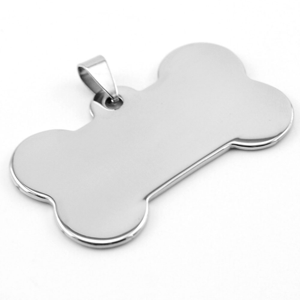 Puppy pet tags small Dog bone collar Pendant Stainless steel both sides mirror polished high quality