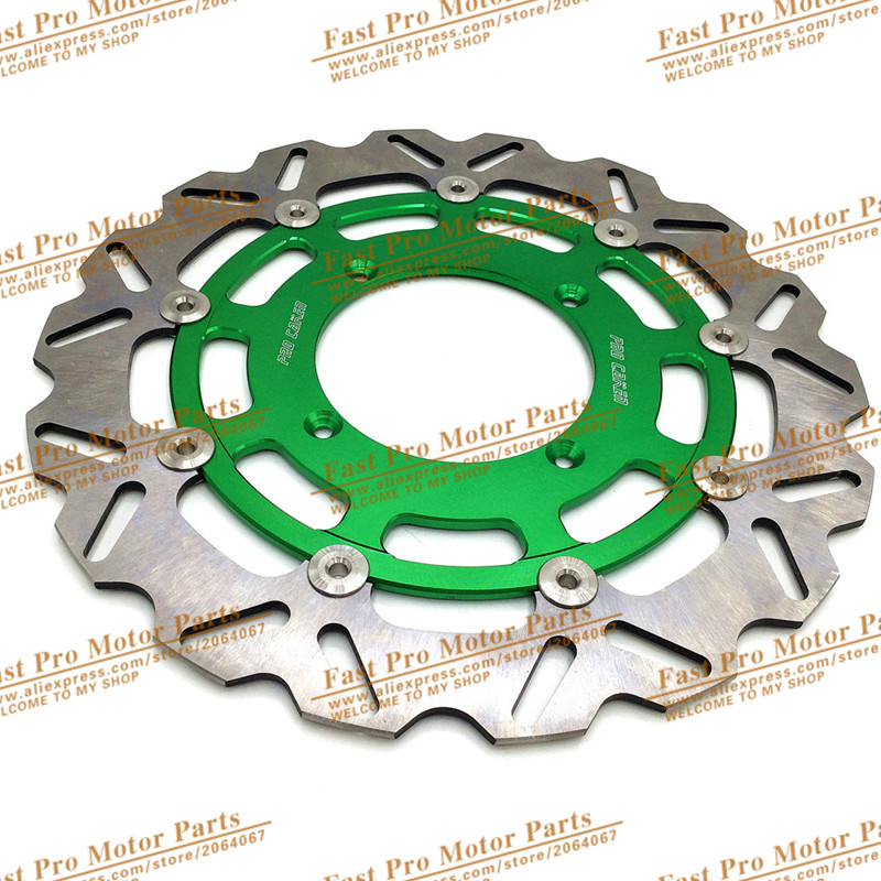 320MM Oversize Front Floating Brake Disc Rotor Plate Fit For Kawasaki Dirt Pit bike Racing Motorcycle
