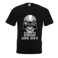 GAME OVER cool Skull Faccia Gamer, Gaming Scheletro, cita Tshirt divertente gioco