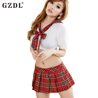 Girls Cotton Uniform Temptation Student Cosplay Halloween Costume Sexy Lingerie Underwear Intimate Wife Women Ladies Girl