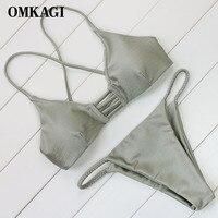 OMKAGI Brand Swimsuit Swimwear Women Sexy Push Up Micro Bikinis Set Swimming Suit Bathing Suit Beachwear