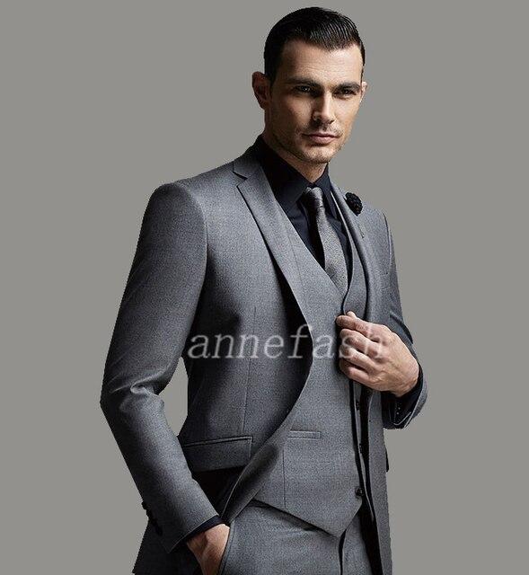 lana 150's gris traje Alta encargo por hombres peinada calidad pura HBxtXUwq