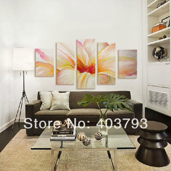 Modern abstract  Oil Painting On Canvas  Elegant huge fower paintings for home decoration Free shipping