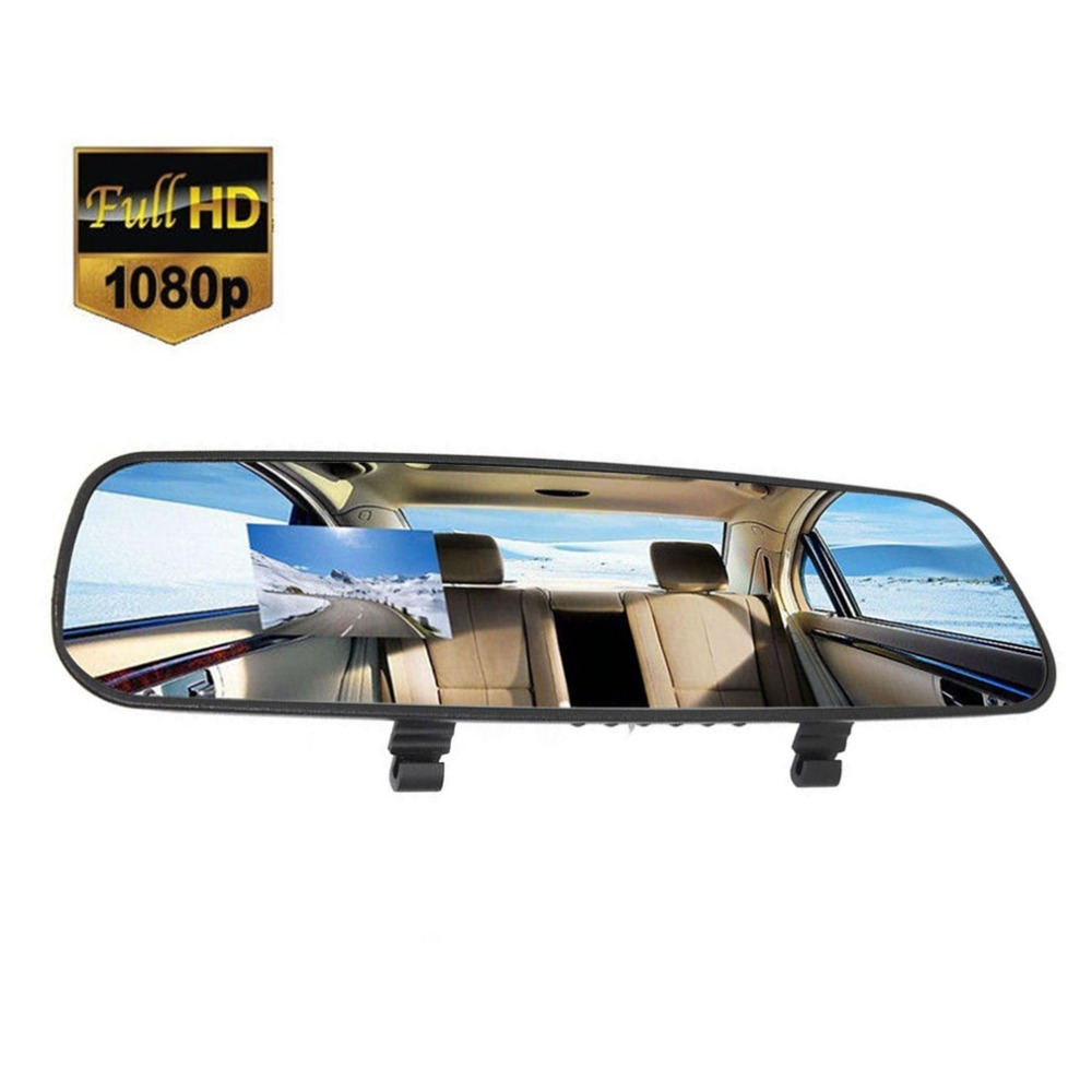 2.7'' Car HD 1080P Ultra Slim HD LCD Video Recorder G-sensor Dash Cam Rearview Vehicle Mirror Camera DVR
